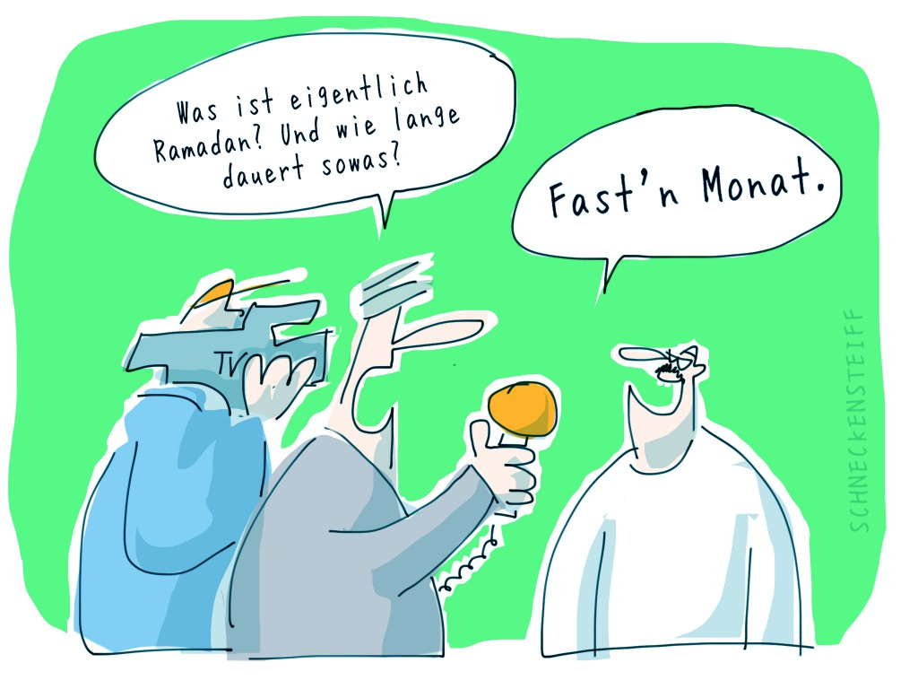 Cartoon FastnMonat